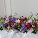 [부산플로리스트학원/플라워레슨]롱앤로우센터피스 단상장식  회의테이블꽃장식 수업