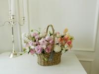 [부산당일꽃배달]컬러배색꽃바구니15호