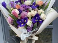 [부산당일꽃배달]아이리스,튤립,라넌큘러스 겨울꽃다발1…